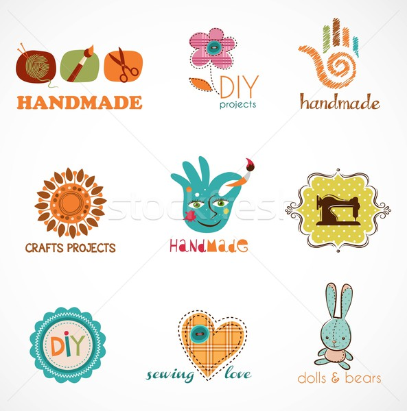 Craft and do it yourself, collection of icons Stock photo © marish