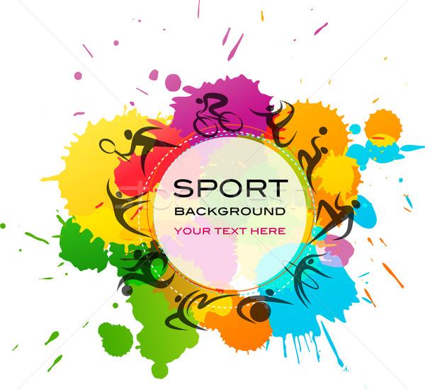 Sport kleurrijk abstract vector ontwerp print Stockfoto © marish