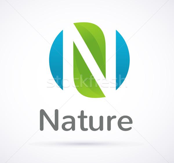 Сток-фото: вектора · зеленый · экология · икона · природы · символ