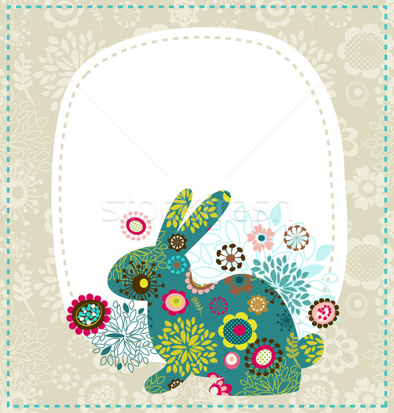 Easter greeting card with bunny Stock photo © marish