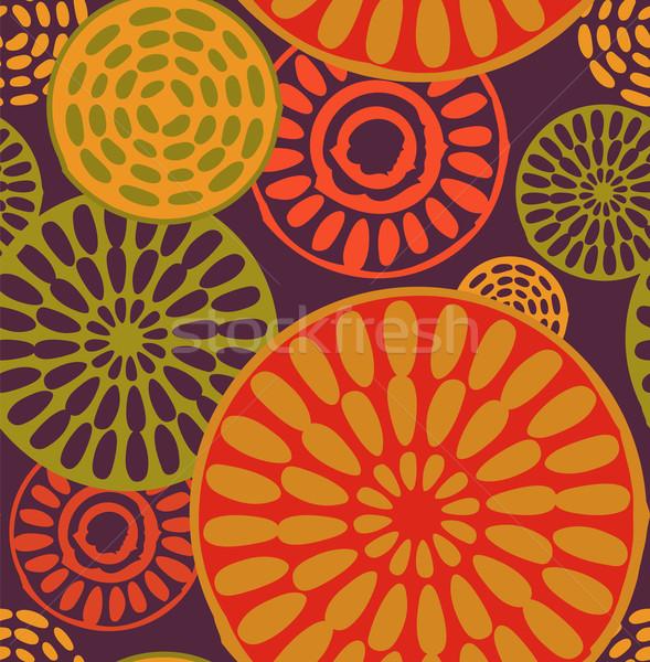 Tribal, African, simple seamless pattern Stock photo © marish
