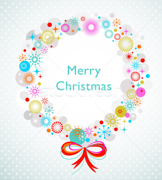 Christmas wreath card template Stock photo © marish