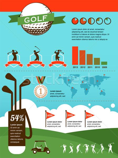 Golf vektor infografika elemek fa sport Stock fotó © marish