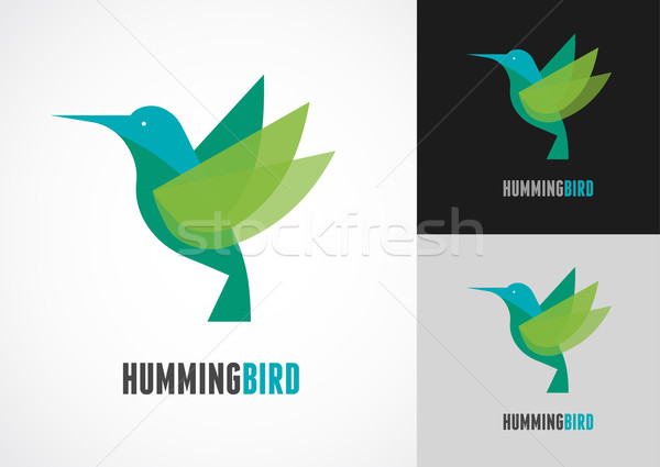 Tropical bird - humming vector icon Stock photo © marish