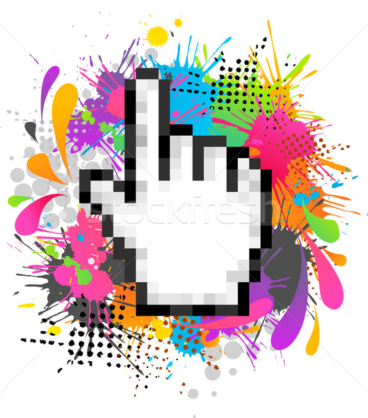 Funky hand digitale textuur blad technologie Stockfoto © marish