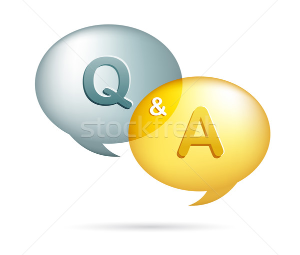 speech bubbles with question and answer Stock photo © marish