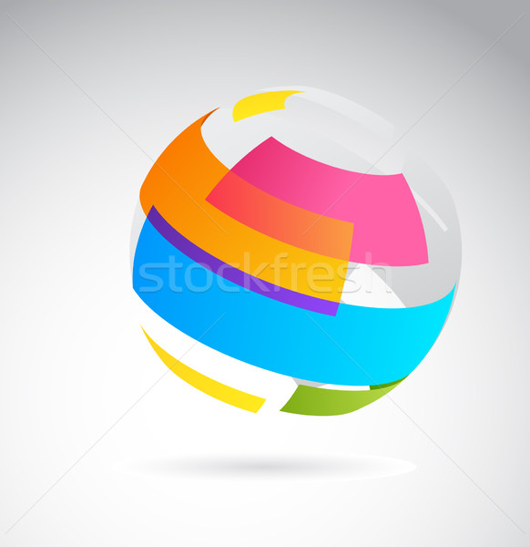 Abstract globe icon Stock photo © marish