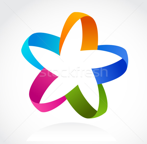 Star icon vector abstract kleurrijk business Stockfoto © marish
