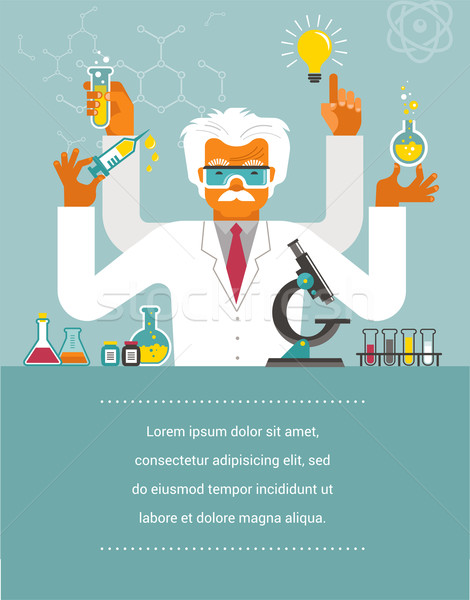 Mad Scientist - Research, Bio Technology  Stock photo © marish