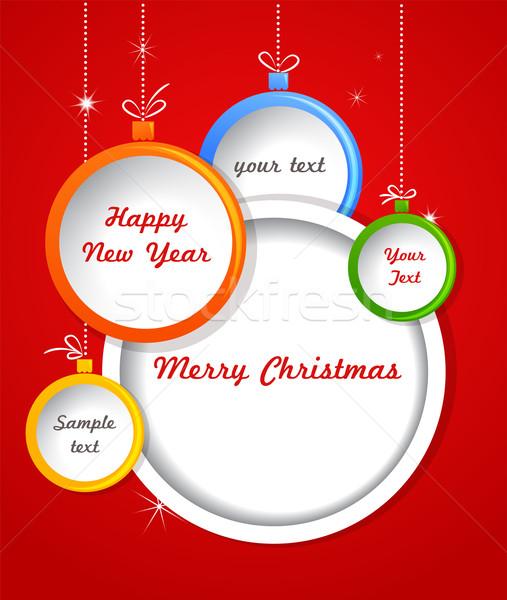 Stockfoto: Christmas · decoraties · kerstmis · vector · banner