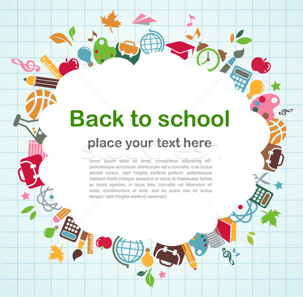 back to school - background with education icons Stock photo © marish
