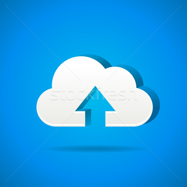 cloud app icon - upload files Stock photo © marish