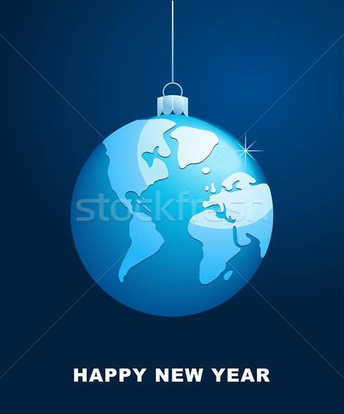 world Christmas ball, vector background Stock photo © marish