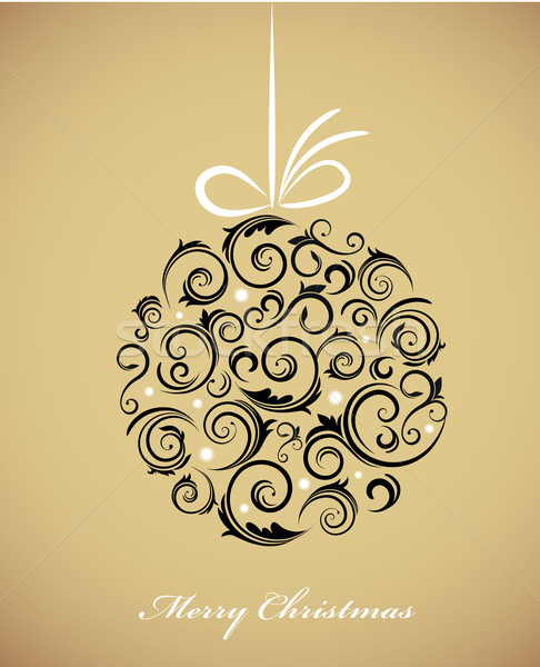 Vintage Christmas ball with retro ornaments Stock photo © marish