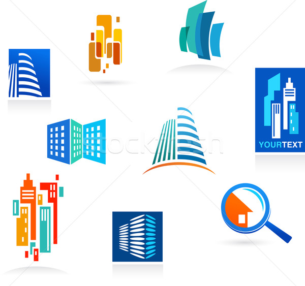 Collection of real estate icons and elements Stock photo © marish