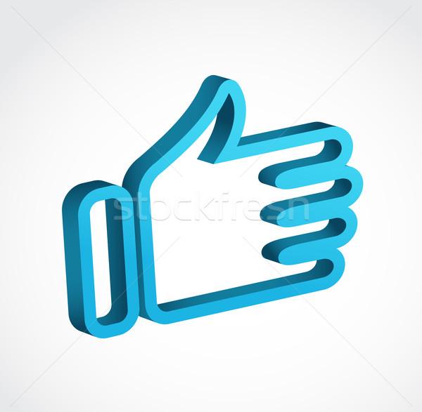 Vektor up wie Symbol Design Zeichen Stock foto © marish