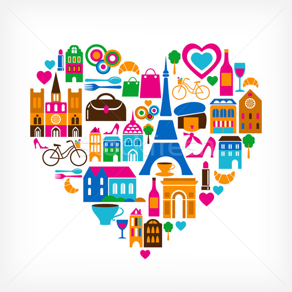 Pars love - vector illustration with set of icons Stock photo © marish