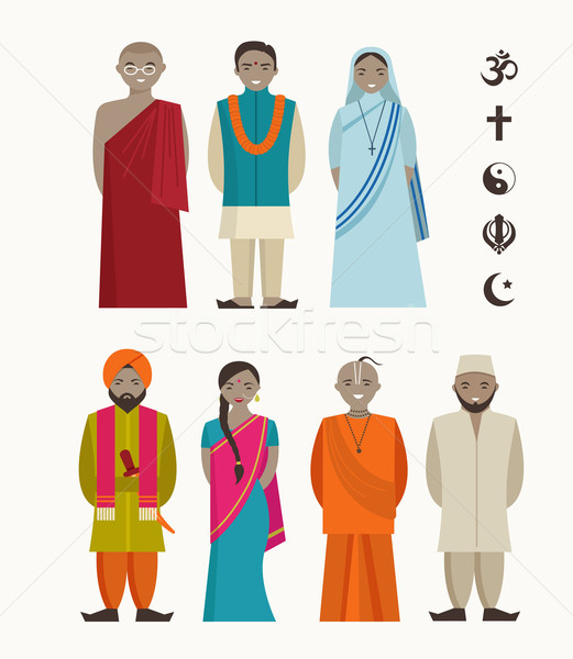 Indian people - different indian religious Stock photo © marish