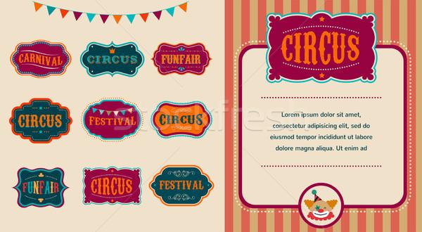 Vintage circo conjunto céu Foto stock © marish