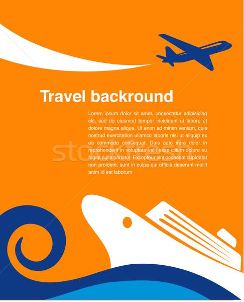 旅行 クルーズ 飛行機 ベクトル eps 10 ストックフォト © marish