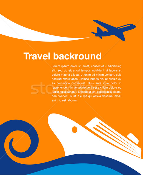 Reizen cruise vliegtuig vector eps 10 Stockfoto © marish