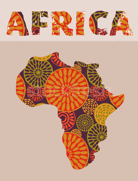 Africa - patterned map Stock photo © marish