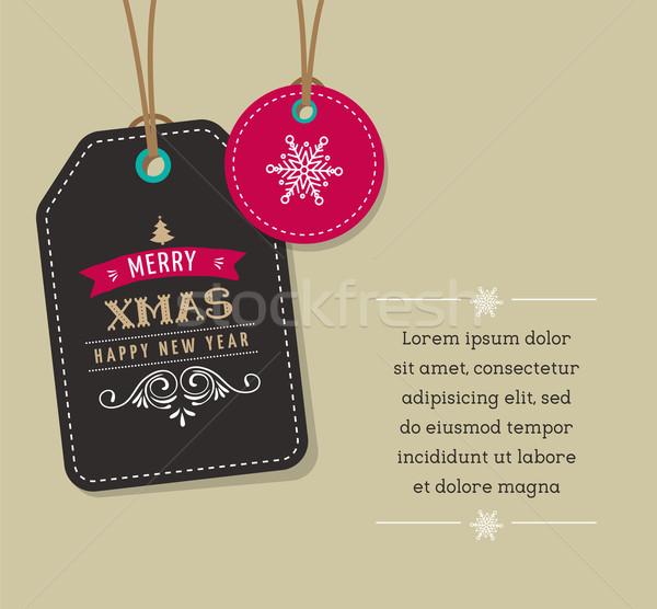 Рождества продажи подарок Этикетки дерево Сток-фото © marish