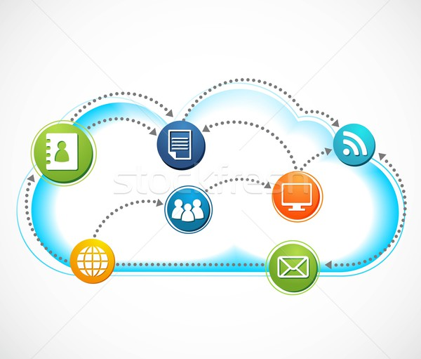 internet cloud, vector image Stock photo © marish