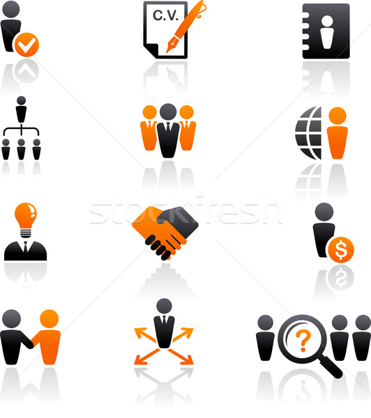 collection of human resources icons Stock photo © marish
