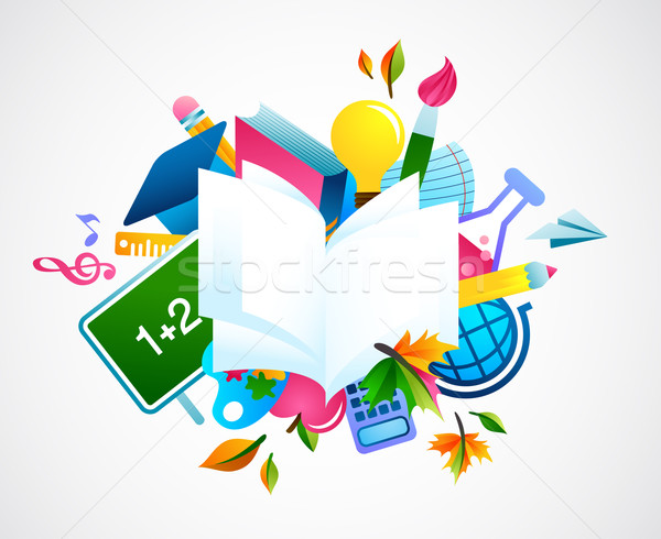 back to school - colorful background Stock photo © marish