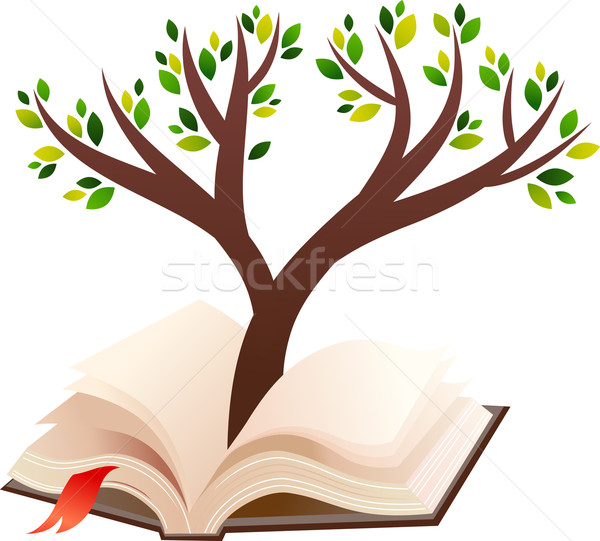 illustration of tree growing in open book Stock photo © marish