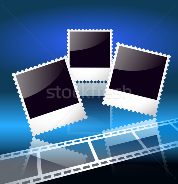 Stock photo: Photo frame and filmstrip