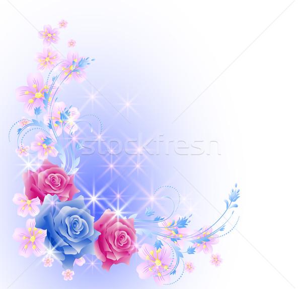 Floreale rose stelle fiori rosa luce Foto d'archivio © Marisha
