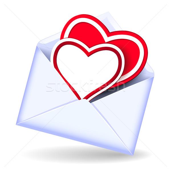 Envelope with valentine hearts Stock photo © Marisha