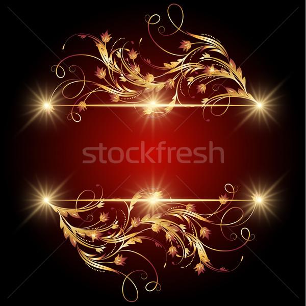 Stelle ornamento pennello banner Foto d'archivio © Marisha