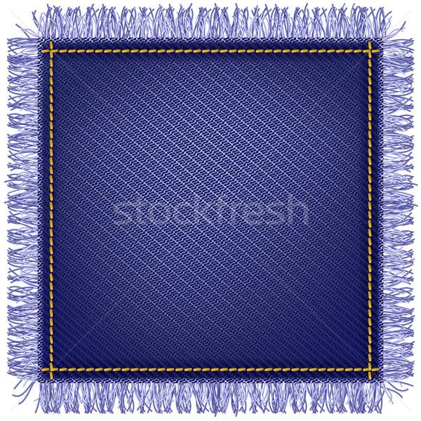 Jeans fabric with fringe Stock photo © Marisha