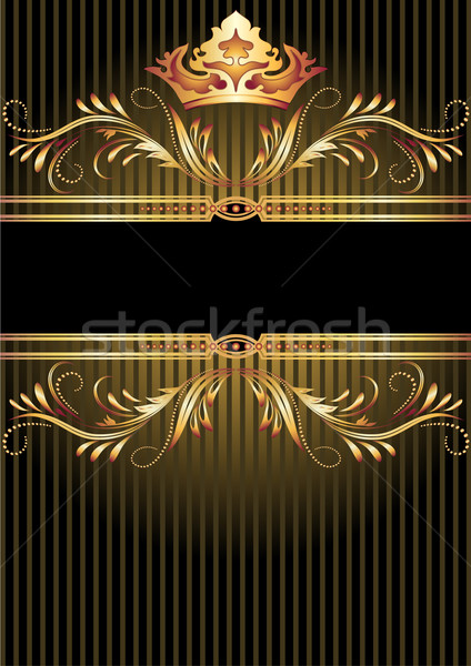 Luxurious golden ornament and crown Stock photo © Marisha