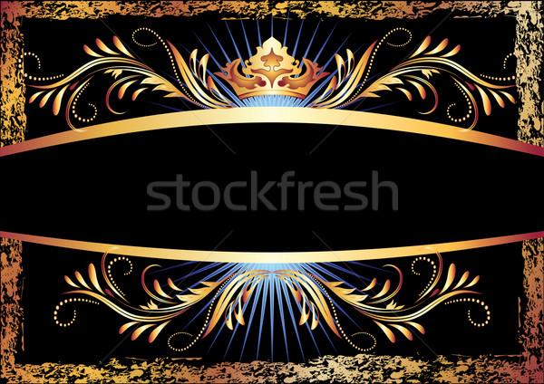 Lusso rame ornamento corona carta design Foto d'archivio © Marisha