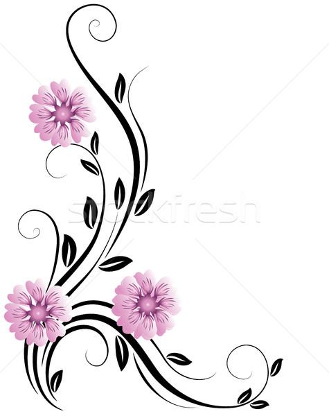 Decorativo ornamento floreale fiore natura foglia Foto d'archivio © Marisha
