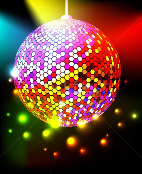 Disco ball achtergrond sterren bal patroon tech Stockfoto © Marisha