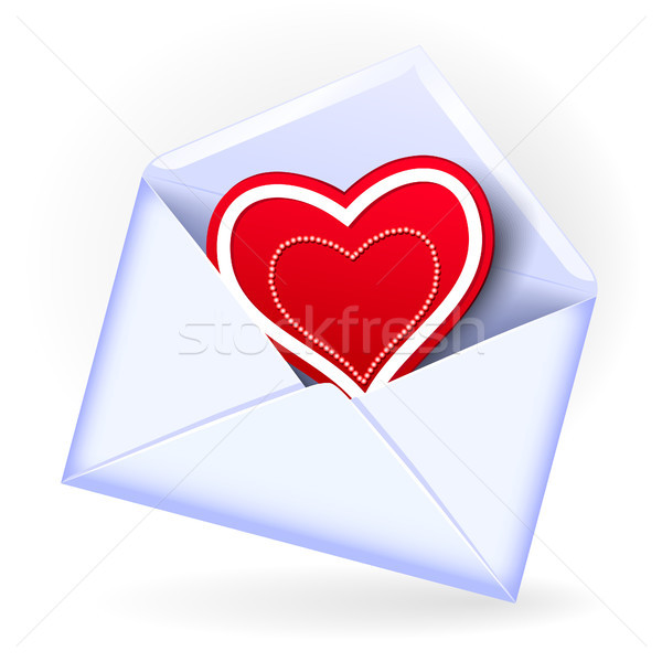 Envelope with valentine heart Stock photo © Marisha