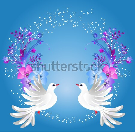 Two doves and roses  Stock photo © Marisha