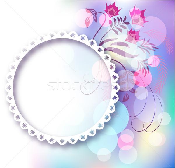 Photo frame floreale ornamento pagina layout photo album Foto d'archivio © Marisha