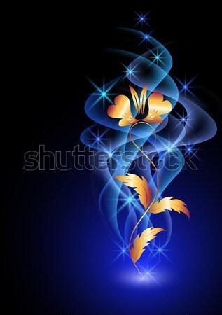 Elegant white swan Stock photo © Marisha