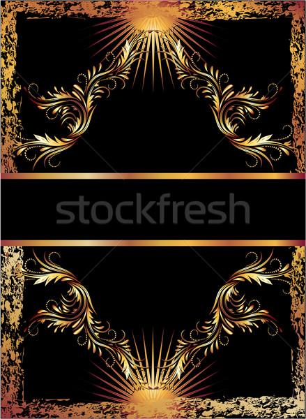 Black background with copper ornament Stock photo © Marisha