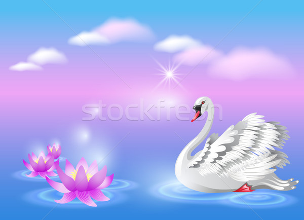 Swan and lily Stock photo © Marisha