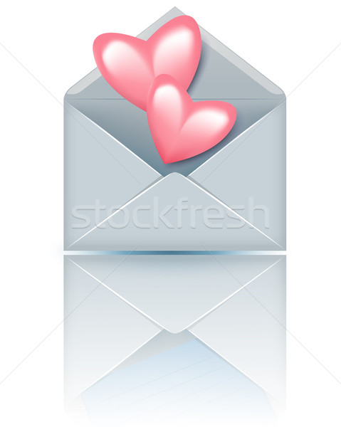 Envelope with valentine hearts Stock photo © Marisha