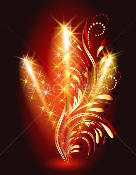 Ornamento design arte rosso Foto d'archivio © Marisha