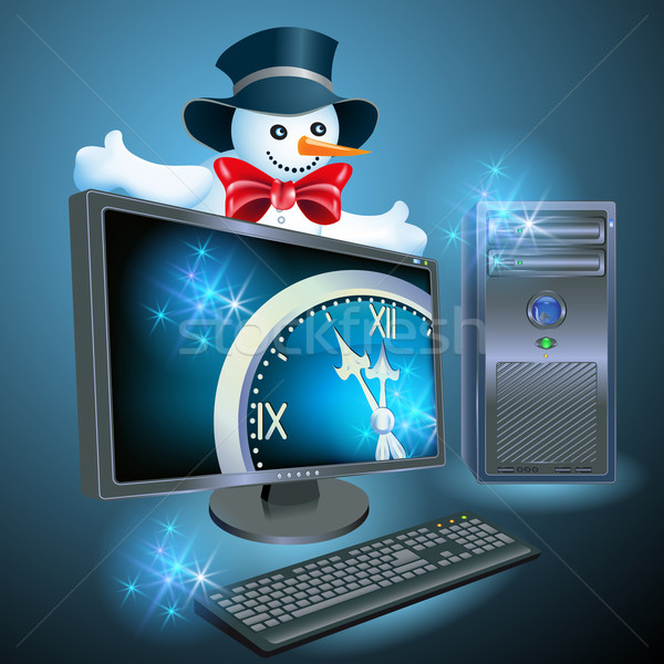 Christmas advertising computer equipment Stock photo © Marisha