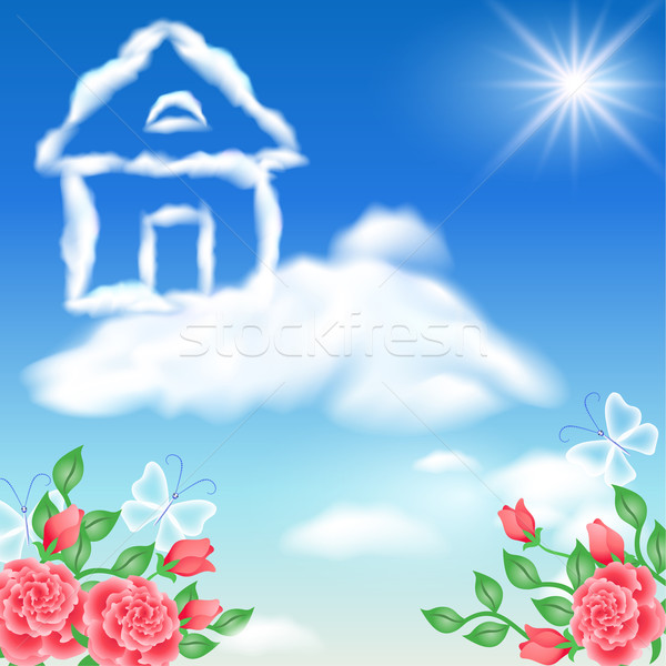 Cloud house in the sky Stock photo © Marisha